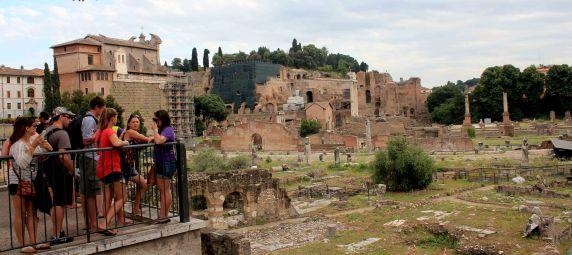 Overlooking the forum