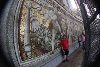 Mosaics on the dome walkway, invisible from the ground