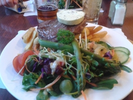 Dinner at the Hikutaia Tavern. Highly recommended