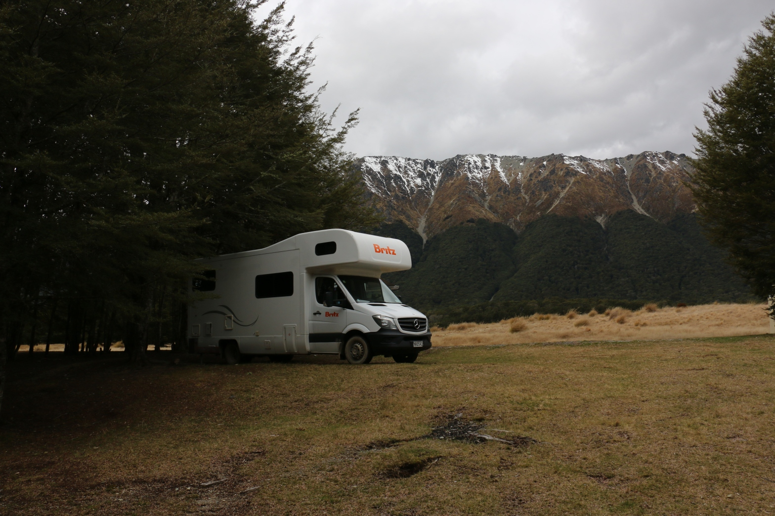 Camper at Mavora Lakes